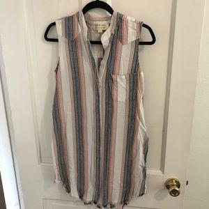 Cloth & Stone Anthropologie Dress Stripes Mini